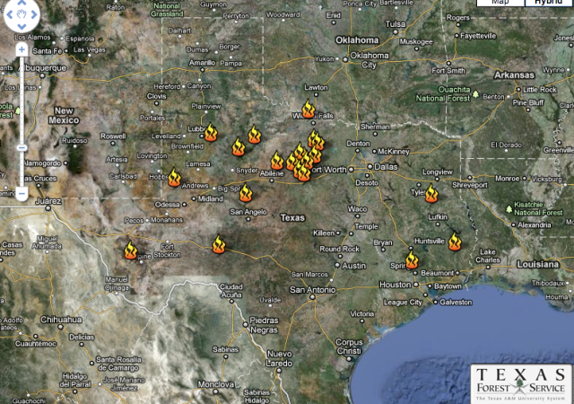 Texas Wildfires: Most Current Fire Map with Descriptions | Nature